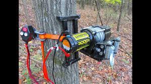 electric tree winch portable deer winch welding