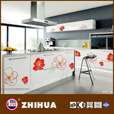 high gloss paint for kitchen cabinets china high gloss color painting kitchen cabinet with flower design
