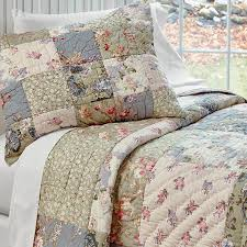Country Duvet Covers Quilts Country Bedding Serenity Patchwork Quilt And Shams Orvis