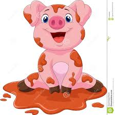 cartoon cute baby pig stock vector image 54300890