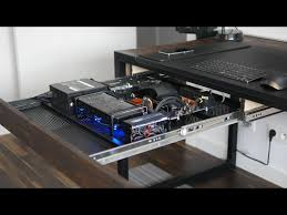 pc built into desk drawer home theater and gaming pinterest