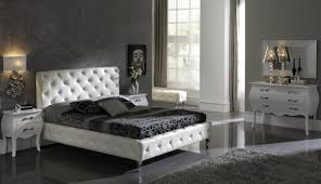 classy black and white bedroom wallpaper with white headboard and
