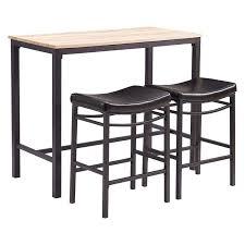 Drop Leaf Bistro Table Bar Stool Baxton Studio Reynolds Black Wood 3 Piece Modern Drop