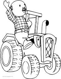 percy pickles driving tractor coloring page wecoloringpage