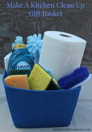 kitchen gift basket ideas a kitchen cleaning gift basket simply southern
