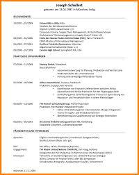 Cv Vorlage Englisch Usa 11 Lebenslauf Englisch Beispiel Resignation Format