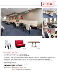 Modern Restaurant Furniture Supply by Alime R03 Commercial Custom Modern Restaurant Seating Furniture