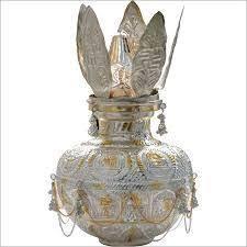jpearls silver dhana lakshmi kalash for puja silver kalash