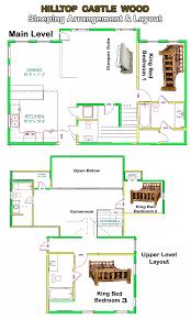 cabin layouts broken bow adventures luxury cabins rentals in beavers bend
