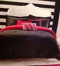 Antique Rose Comforter Set Betsey Johnson Inverse Rose Embossed Print 6 Pc Full Queen