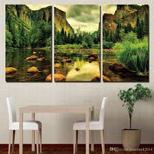 Yosemite Home Decor Wall Art 2017 Framed Hd Printed Rocks River Sights Wall Art Canvas Pictures