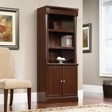 Espresso Bookcase With Doors Espresso Bookshelf With Doors Door Design