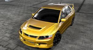 mitsubishi evo custom mitsubishi lancer evo ix 3d model in sport cars 3dexport