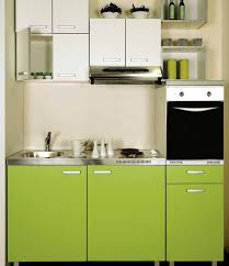 kitchen design white wall cabinet open shelves tiny house green