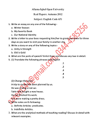 writing an english paper today papers of english b ed code 651 facebook