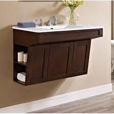 Modern Bathroom Furniture Bathroom Antique Brown Wood Wall Mounted Bathroom Vanity With