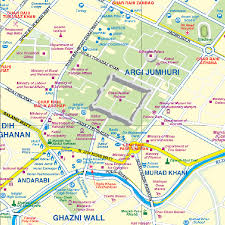 kabul map and the historic khyber pass travel reference map