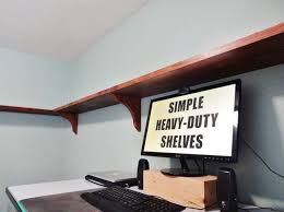 Heavy Duty Shelves by Simple Heavy Duty Shelves 18 Steps With Pictures