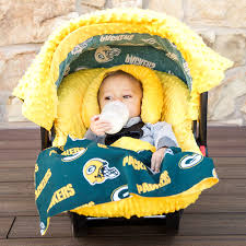 bay bay baby green bay packers 5 caboodle car seat set baby 0 24 months