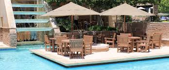 Poolside Table And Chairs Soldura Sustainable Outdoor Furniture Cabanas Chaise Lounges