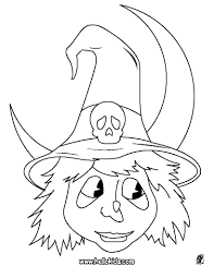 witch head coloring pages hellokids com