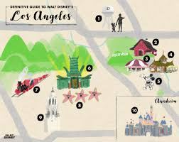 Disney Map The Definitive Guide To Walt Disney U0027s Los Angeles Oh My Disney