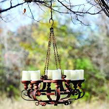 Garden Candle Chandelier Add The Of Rustic Elegance To Your Patio Porch Or Garden