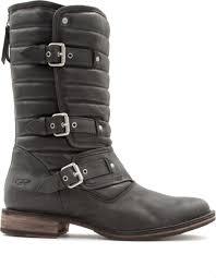 black leather biker boots ugg tatum leather biker boots in black lyst