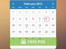 25 free psd calendar templates for making beautiful design