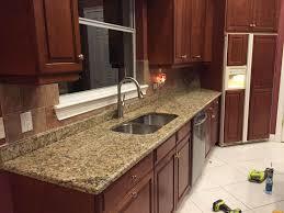 kitchen backsplash ideas with santa cecilia granite kitchen with granite countertops comfortable home design