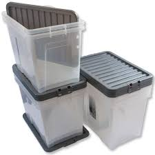 Home Office Storage by Home Office Storage Boxes Large Clear Plastic Containers 80ltr