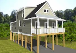 split houses elevated beach house plans level narrow lot front home 3 multi