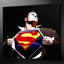 superman home decor top good art oil painting superman art oil painting 30 inches