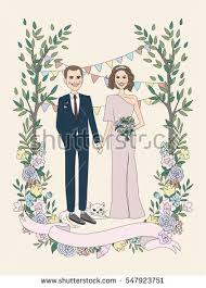 groom and groom wedding card wedding invitation groom stock vector 547923751