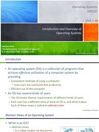 10ec65 operating systems introduction and overview of operating