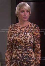 adrianne zucker new hairstyle 2015 wornontv nicole s leopard print dress on days of our lvies