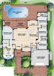 florida house plans with pool house plan pool included from coolhouseplans home