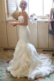 organza wedding dress mermaid court organza wedding dresses