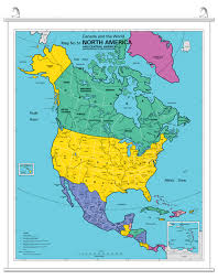 North America Maps by North America Map Including Central America Bugbog Reference Map