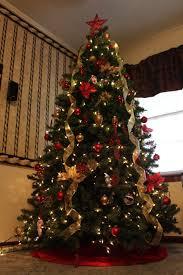 wrap ribbon on a christmas tree christmas lights decoration