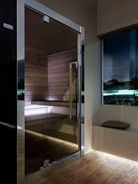 Outdoor Steam Rooms - glass sauna with teak recliners www hometro com products i love