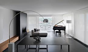 modern studio apartment living room interior design ideas with