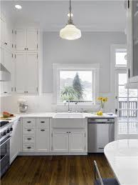 Kitchen Colors For Walls by Grey Walls And White Kitchen Cabinets Savae Org