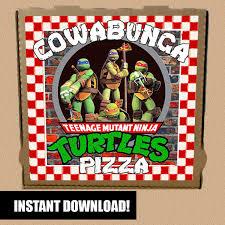 8 images box ninja printable turtles pizza printable