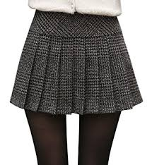 plaid skirt chouyatou women s casual plaid high waist a line pleated skirt at