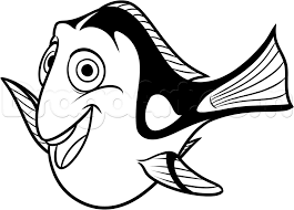 how to draw dory from finding dory step by step disney