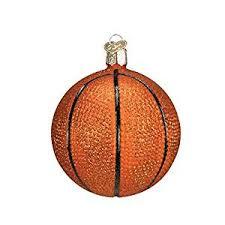 world basketball glass blown ornament