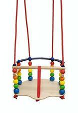 siege b b balancoire hess 31103 balançoire siège bébé en bois de luxe ebay