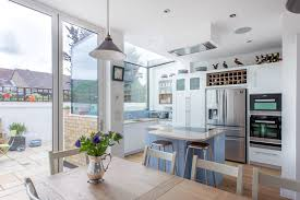 kitchen extensions ideas photos beautiful glass box kitchen extension with full height bi fold