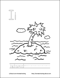 island coloring page letter i coloring book free printable pages